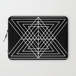 Overlapping Triangles ( Black & White) Laptop Sleeve