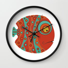 Fish art 21.1 Wall Clock