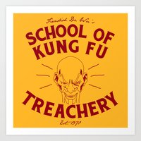 School Of Kung Fu Treachery Art Print