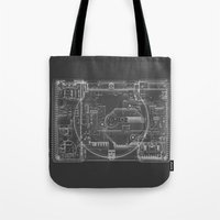 playstation Tote Bags featuring PlayStation One  by Georg Bodenstein