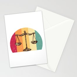 Scales Of Justice Lawyer Retro Gift Idea Stationery Cards
