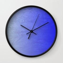 Blue Ice Glow Wall Clock