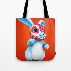 Lucha Rabbit-Blue Brother Tote Bag