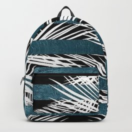White Palms and Teal Lines Backpack