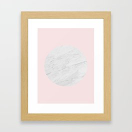 Minimalist circle texture II Framed Art Print