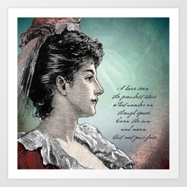 Poetry Girls: Gown Girl Art Print