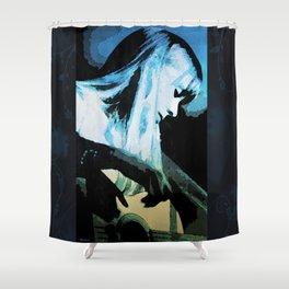 Joni Mitchell Watercolor Shower Curtain