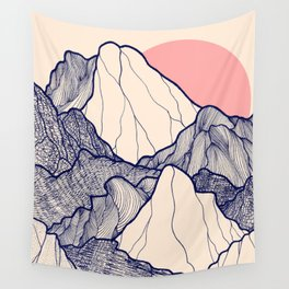 The calm morning mountains Wall Tapestry