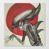 xenomorph Canvas Prints featuring Xenomorph by Aria-Blair