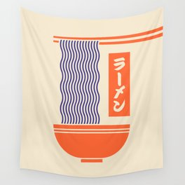 Ramen Minimal - Cream Wall Tapestry