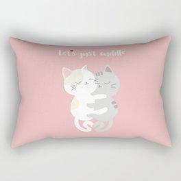 Cuddling kittens Rectangular Pillow