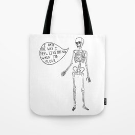 Joyce Manor Skeleton Tote Bag