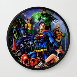 heroes all Wall Clock