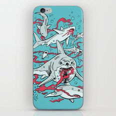 SHARKS AFTER LUNCH iPhone & iPod Skin