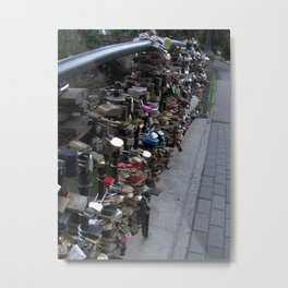 Latvia's Lock Bridge Metal Print