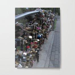 Latvia's Lock Bridge Metal Print