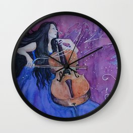 She was creating her living nightmares Wall Clock