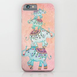 LUCKY ELEPHANTS iPhone Case