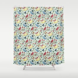 Pattern Birds Shower Curtain