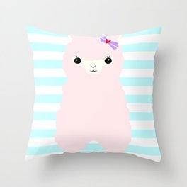 Alpaca In Love  Throw Pillow