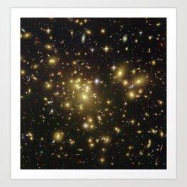 Hubble Space Telescope - Hubble Looks Through Cosmic Zoom Lens Art Print