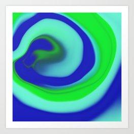 Green blue abstract pattern Art Print