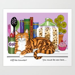 Counter Top Cat Art Print