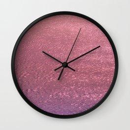 Metallic Ocean With Iridescent Wave Wall Clock