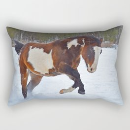 Romping in the snow Rectangular Pillow