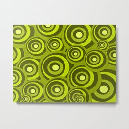 Green Ring - Geometrical Pattern Metal Print