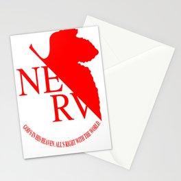 Nerv Logo, Neon Genesis Evangelion Stationery Cards