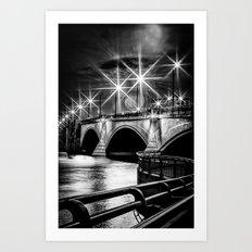 Palm Beach Bridge Art Print