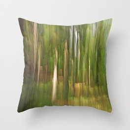 Abstract green forest Throw Pillow
