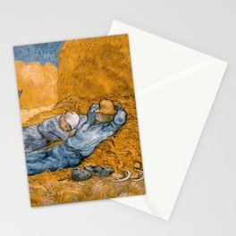 Noon - rest from work by Vincent van Gogh Stationery Cards