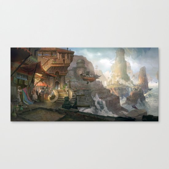 canyon city in the clouds Canvas Print