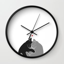I Wish You Were Here Right Meow Wall Clock