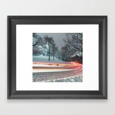 Silent Winter Drive Framed Art Print