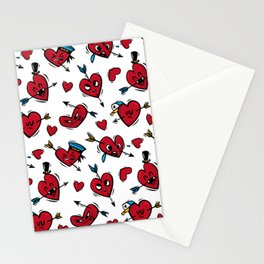 """""""Funny hearts"""" Stationery Cards"""