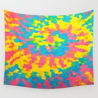 tie dye Wall Tapestries featuring Tie Dye by Jillian Stanton