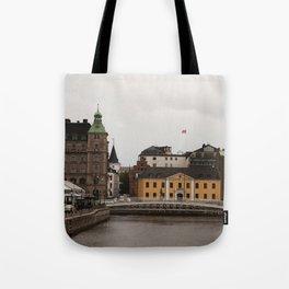 Malmo bridge, Sweden cityscape, Nordic, Scandinavian,holiday Tote Bag