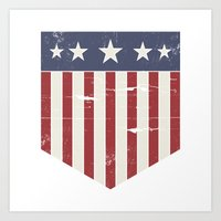 flag Art Prints featuring Flag by Emma Harckham