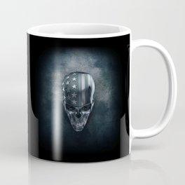 American Flag Skull Coffee Mug