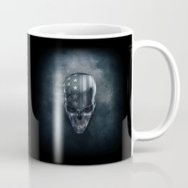 American Flag Skull Coffee Mug