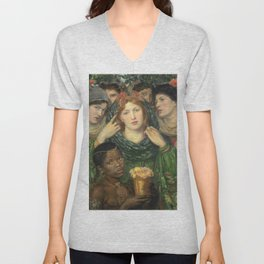 Dante Gabriel Rossetti - The Beloved (The Bride) Unisex V-Neck