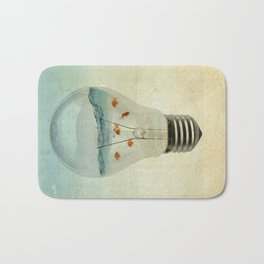 blue sea thinking Bath Mat