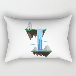 Floating islands with lighthouse Rectangular Pillow