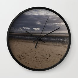 Dark clouds and clear sky Wall Clock