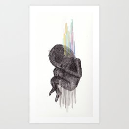 Birth. Conspire. Be. Upset. Art Print