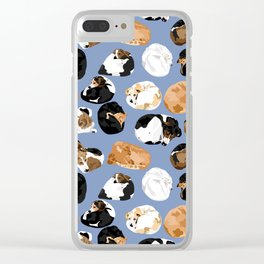 Coonie Curl Blue Clear iPhone Case