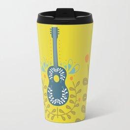 Fancy folk guitar Travel Mug